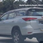 2016 Toyota Fortuner rear quarter spied in Malaysia