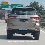 2016 Toyota Fortuner tail lamps spied in Malaysia