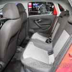 2016 VW Cross Polo rear seat at the Auto Expo 2016