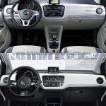 2016 VW Up! dashboard old vs. new