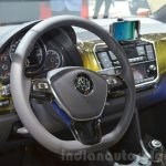 2016 VW Up! (facelift) steering wheel at the 2016 Geneva Motor Show
