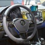 2016 VW Up! (facelift) steering wheel at the 2016 Geneva Motor Show