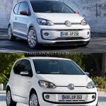 2016 VW Up! front three quarters old vs. new
