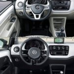 2016 VW Up! interior old vs. new