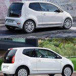 2016 VW Up! rear three quarters old vs. new