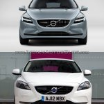 2016 Volvo V40 (facelift) front old vs. new