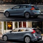 2016 Volvo V40 (facelift) rear three quarters left side old vs. new