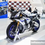 2016 Yamaha R1M blue matte silver at Auto Expo 2016