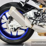 2016 Yamaha R1M exhaust at Auto Expo 2016