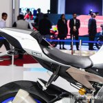 2016 Yamaha R1M seat at Auto Expo 2016