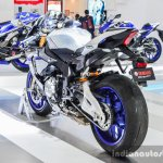 2016 Yamaha R1M swingarm at Auto Expo 2016