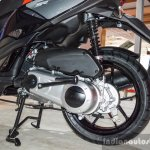 Aprilia SR 150 Black engine at Auto Expo 2016
