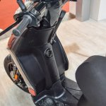 Aprilia SR 150 Black front inner side at Auto Expo 2016