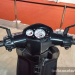 Aprilia SR 150 Black handlebar at Auto Expo 2016