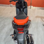 Aprilia SR 150 Black rear at Auto Expo 2016