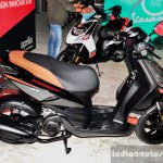 Aprilia SR 150 Black side at Auto Expo 2016
