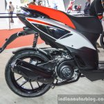 Aprilia SR 150 White exhaust at Auto Expo 2016