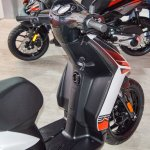 Aprilia SR 150 White foot board at Auto Expo 2016