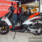 Aprilia SR 150 White side at Auto Expo 2016