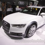 Audi A6 Allroad Quattro front right three quarter at 2016 Auto Expo