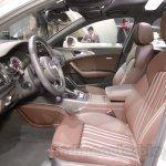 Audi A6 Allroad Quattro front seats at 2016 Auto Expo