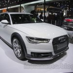 Audi A6 Allroad Quattro left front three quarter at 2016 Auto Expo