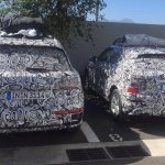 Audi Q2 snapped alongside 2016 Audi Q5