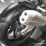 BMW S1000RR exhaust at Auto Expo 2016