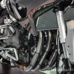 Benelli TNT 600GT Nero (black) engine at Auto Expo 2016