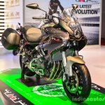 Benelli TNT 600GT Nero (black) front quarter at Auto Expo 2016