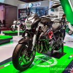 Benelli TNT 600i Nero (black) fork at Auto Expo 2016