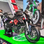 Benelli TNT 600i Nero (black) front quarter at Auto Expo 2016