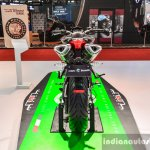 Benelli TNT 600i Nero (black) rear at Auto Expo 2016