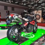 Benelli TNT 600i Nero (black) rear quarter at Auto Expo 2016
