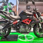 Benelli TNT 600i Nero (black) side at Auto Expo 2016