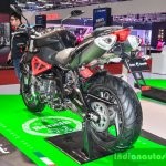 Benelli TNT 600i Nero (black) swingarm at Auto Expo 2016
