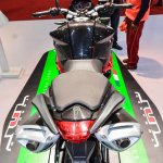 Benelli TNT 600i Nero (black) twin exhaust at Auto Expo 2016