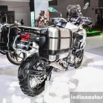 Benelli TRK 502 tyre hugger mud guard at Auto Expo 2016