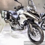Benelli TRK 502 white at Auto Expo 2016