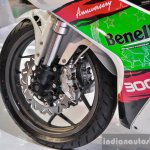 Benelli Tornado 300 dual disc brakes inverted fork at Auto Expo 2016