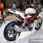 Benelli Tornado 300 number plate hanger at Auto Expo 2016