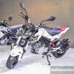 Benelli Tornado Naked T-135 front quarter at Auto Expo 2016