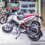 Benelli Tornado Naked T-135 rear quarter at Auto Expo 2016