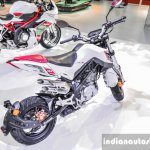 Benelli Tornado Naked T-135 white at Auto Expo 2016