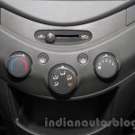 Chevrolet Beat Manchester United edition aircon controls at 2016 Auto Expo