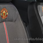 Chevrolet Beat Manchester United edition seat embroidery at 2016 Auto Expo