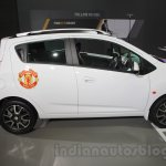 Chevrolet Beat Manchester United edition side profile at 2016 Auto Expo