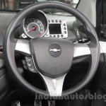 Chevrolet Beat Manchester United edition steering wheel at 2016 Auto Expo