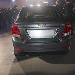 Chevrolet Essentia rear at Auto Expo 2016
