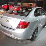 Chevrolet Sail special edition rear right three quarter at 2016 Auto Expo